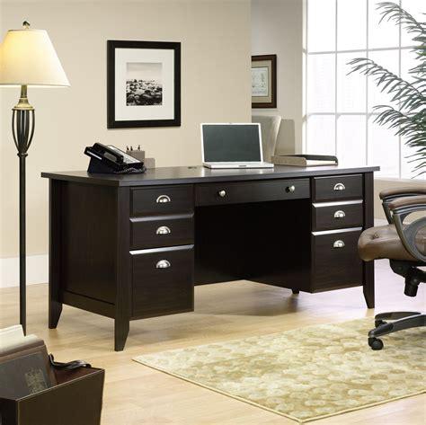 sauder shoal creek collection executive desk sauder outlet shoal creek 65 executive desk 30 1 2 h x