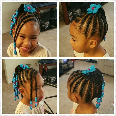 Braided Kid Hairstyles by Beautiful Braided Childs Hair Style With Braided Bangs