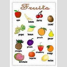 Picture Dictionary, Charts And Fruit On Pinterest