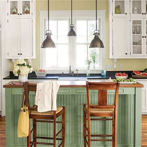 cottage casual island stylish functional kitchen