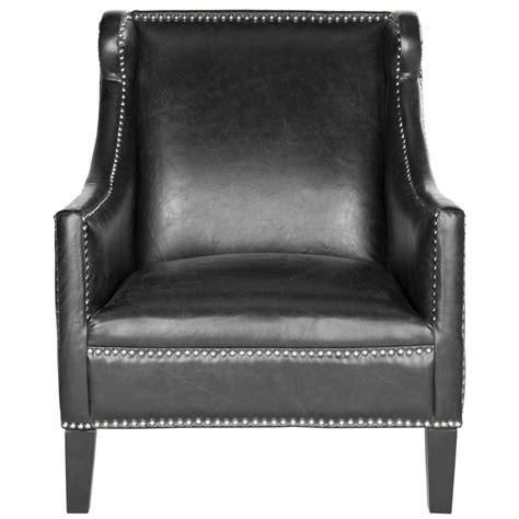 vintage leather club chairs safavieh mckinley antique black leather club arm chair 6840