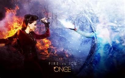 Upon Once Elsa Regina Frozen Fire Ice