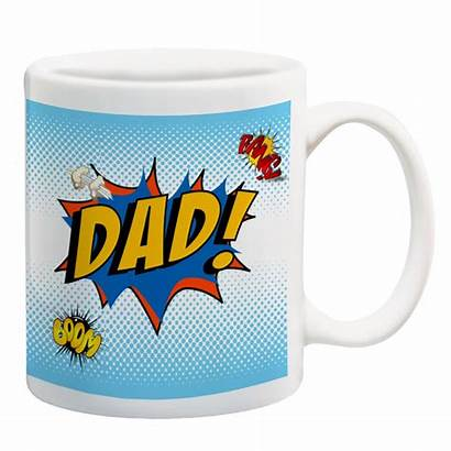 Dad Mug Personalised Artylicious Comic Fathers Mugs