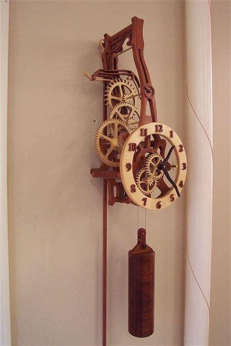 wooden clocks images  pinterest wood clocks wooden gear clock  clock