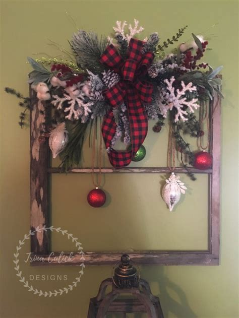 beautiful  window frame christmas window decorations