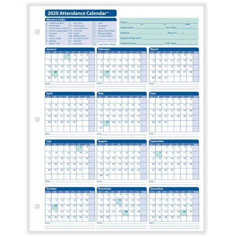 yearly employee attendance calendar yearly calendar