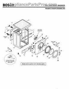 Bosch Nexxt 500 Series Washer Parts Diagram