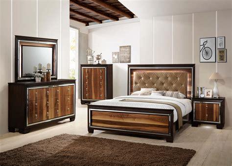kelda led bedroom set  crown mark