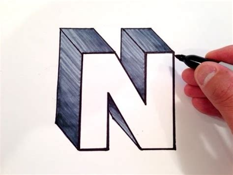 How To Draw The Letter N In 3d Youtube