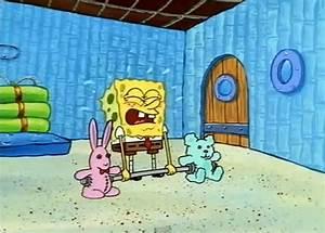 spongebob lifting weights