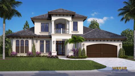 mediterranean style home plan  naples architects  fontana