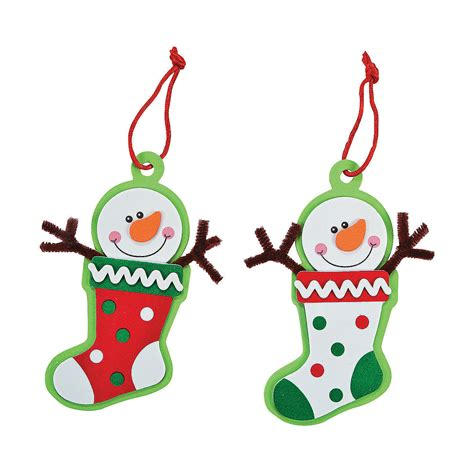 snowman stocking christmas ornament craft kit oriental