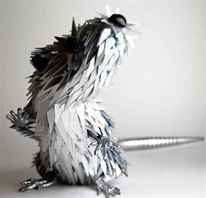 Stunning Sculptures Made from Discarded CD Fragments