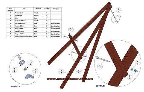 easel plans lightweight tripod easel plan parts list fablab idea board diy easel