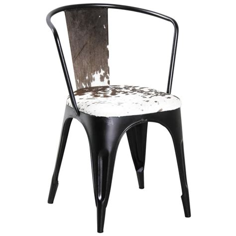 chaise peau de vache chaise en métal et peau de vache mch1580c aubry gaspard