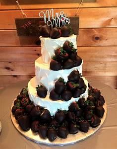 Chocolate Covered Strawberry Wedding Cake