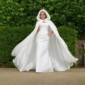 hooded bridal cape with faux fur hood by wonderful wraps With hooded wedding dress
