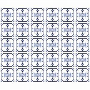 Stickers Carreaux De Ciment : 30 stickers carreaux de ciment delft salle de bain et wc ~ Premium-room.com Idées de Décoration