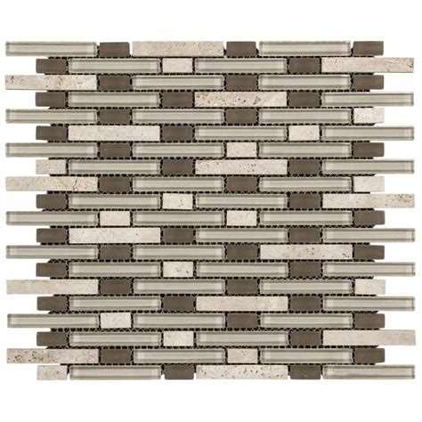 Jeffrey Court Mosaic Tile by Jeffrey Court Riverbend 13 25 In X 11 In X 8 Mm Glass
