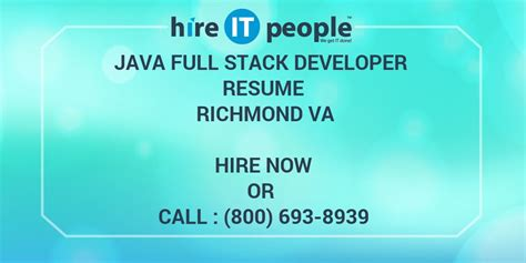 java full stack developer resume richmond va hire