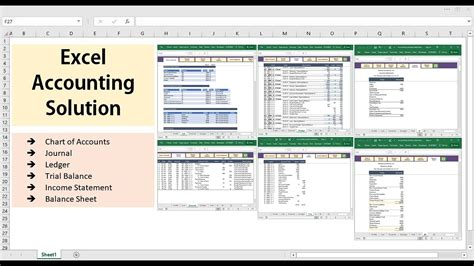 excel accounting solution template youtube