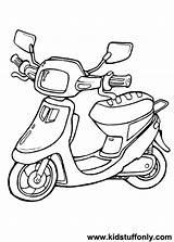 Scooter Coloring Tekenen Google Popular Zoeken Scooters Afkomstig sketch template