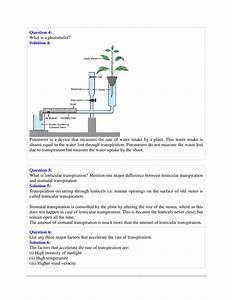 Selina Solutions Class 10 Concise Biology Chapter 5