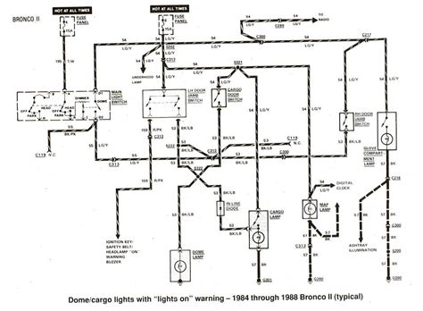 Ford Ranger Bronco Electrical Diagrams The