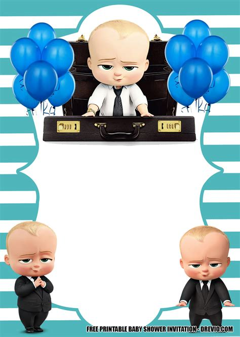 baby boss invitation template   adorable