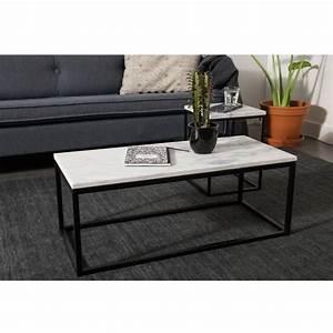 Table Marbre Rectangulaire : table basse rectangulaire marble power zuiver ~ Teatrodelosmanantiales.com Idées de Décoration