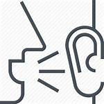 Whisper Icon Mouth Word Ear Buzz Talk