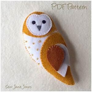 owl templates for sewing - barn owl feltie pdf sewing pattern pinterest pdf
