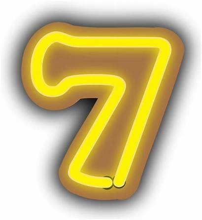 Number Clip Clipart Seven Cliparts Neon Numbers