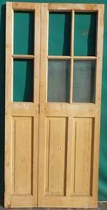 Porte Intérieur Double Vantaux : c2va11 porte d 39 interieur 2 vantaux vitree ~ Melissatoandfro.com Idées de Décoration