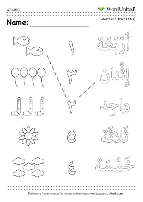 count in arabic 1 5 zaf count eyfs and