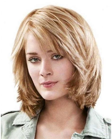 medium layered bob haircuts shoulder length layered hairstyles with bangs wavy hair 1975