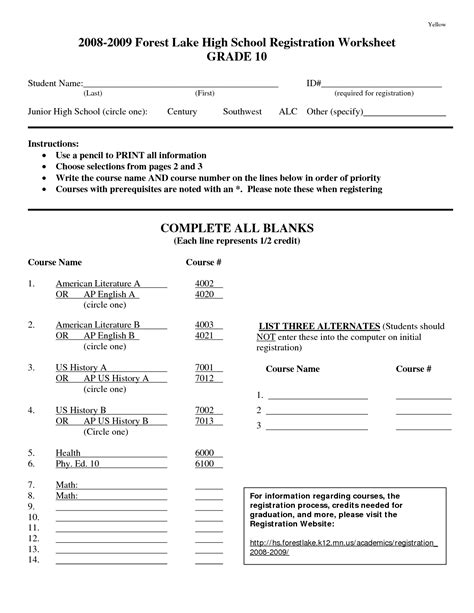 homeschool worksheets high school 16 best images of science worksheets high school
