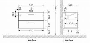 Meuble sous vasque loft 2 tiroirs de 90 cm discac for Meuble 90 cm de hauteur 9 sous vasque et sous plan atlantic bain