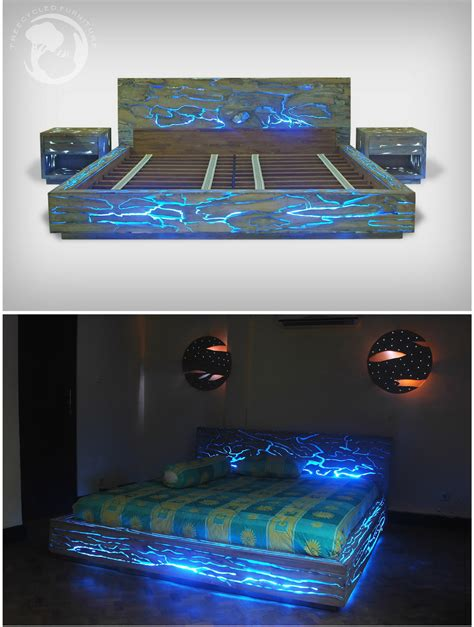 4743 light up bedroom set expose led bed a bed that will light up your