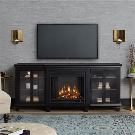 tv stands with fireplaces real marlowe 70 in freestanding electric fireplace
