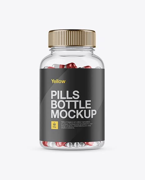 This template psd also contains smart layers for easy editing of the labels of each bottle separately. Clear Plastic Bottle With Metallic Pills Mockup - Front ...