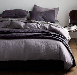 Purple Gray Bedding Elegant Modern Classic Bedroom