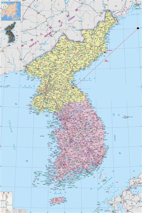 maps  north korea dprk detailed map  north korea