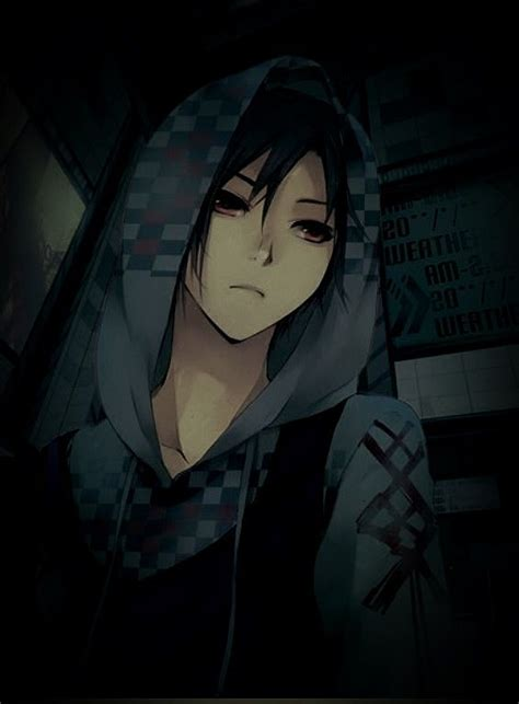 anime boy   hoodie        subway