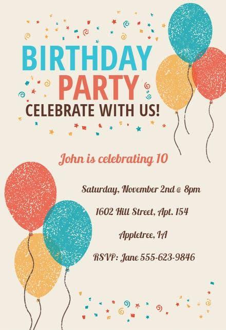 kids birthday invitation templates   island