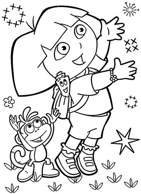 Dibujos Para Colorear Imprimir Dibujos De Dora La Exploradora Para Colorear E Imprimir
