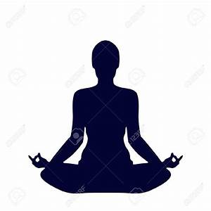 Meditation Silhouette Clipart