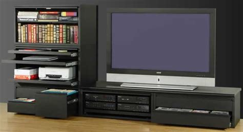 desk entertainment center combo modular computer and laptop workstations by can am