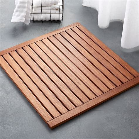 lateral teak bath mat reviews cb