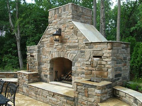 Outdoor Stone Fireplace Warming Up Exterior Space  Traba. Contemporary Entertainment Centers. Porch Chandelier. Lowes Apron Sink. Crystal Chandelier. White Leather Sofa Bed. Drum Shade Ceiling Fan. Free Standing Headboard. Industrial Style Bar Stools